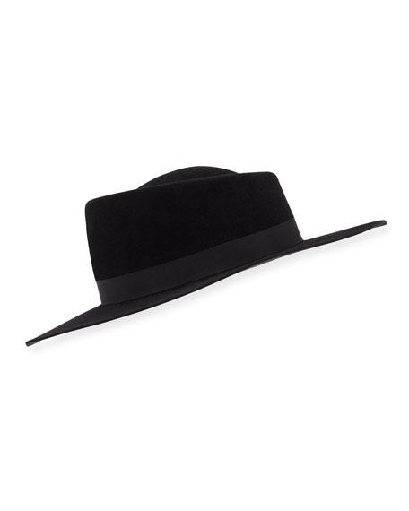 Gladys Tamez Audrey Wide Felt Hat