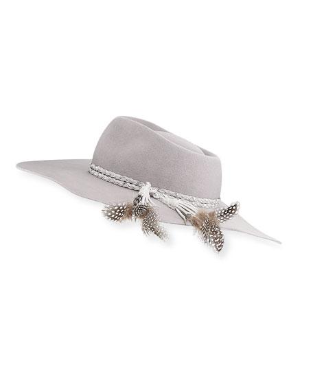 Gladys Tamez Pallenberg Felt Hat w/ Braided Band