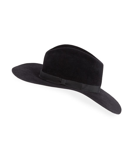 Gladys Tamez Bianca Felt Downturn-Brim Hat