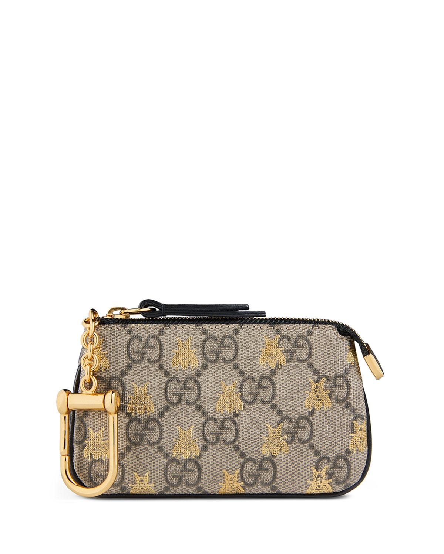 be655886d10 Gucci Linea A GG Supreme Bee Key Case