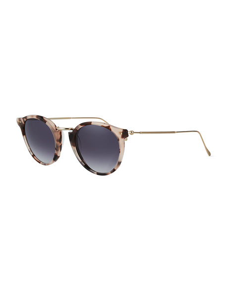 518b418717e Illesteva Round Acetate   Steel Monochromatic Sunglasses