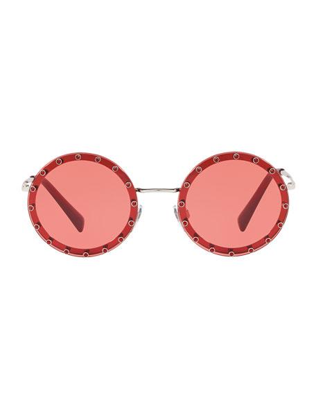 Studded Round Sunglasses
