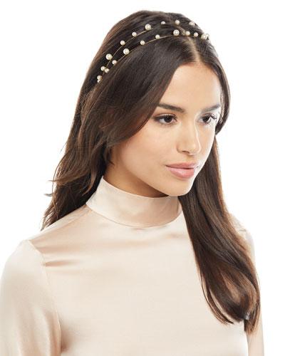 Sybil Swarovski® Pearl Bandeau Headband