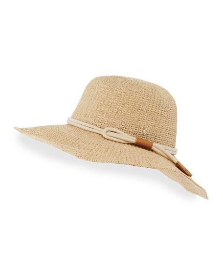 Bilbao Wide-Brim Raffia Sun Hat