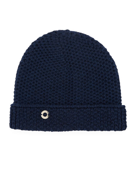 Loro Piana Rougement Chain-Knit Cashmere Beanie Hat