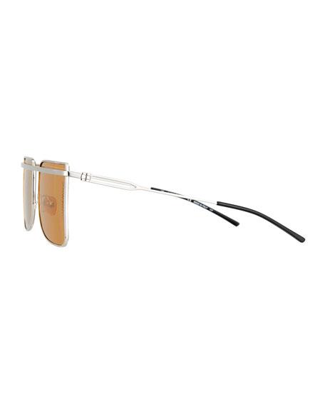Metal Square Aviator-Style Sunglasses