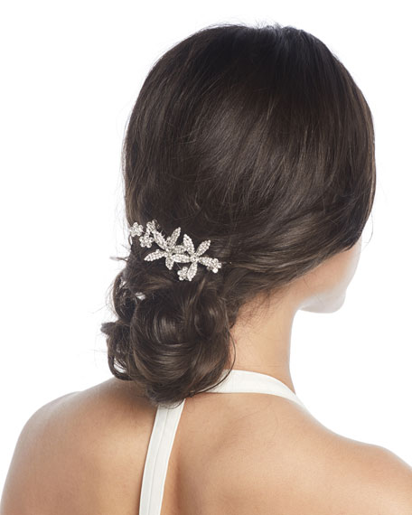 Jennifer Behr Crystal Flower Hair Comb