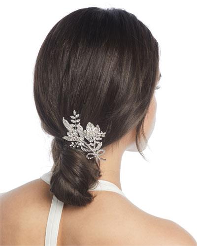 Crystal Flower & Leaf Hair Comb