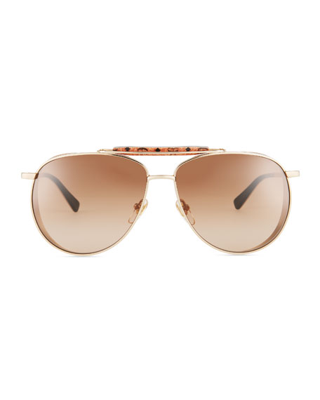 Mirrored Aviator Sunglasses w/ Side Blinders