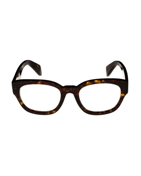 Celine Rectangle Acetate Optical Frames, Light Brown