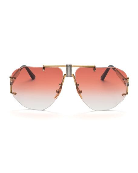 Celine Rimless Aviator Sunglasses