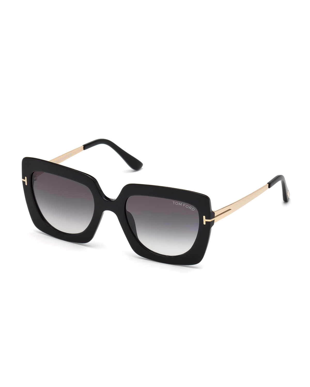 99508c9741f TOM FORD Jasmine 02 Metal   Plastic Square Sunglasses