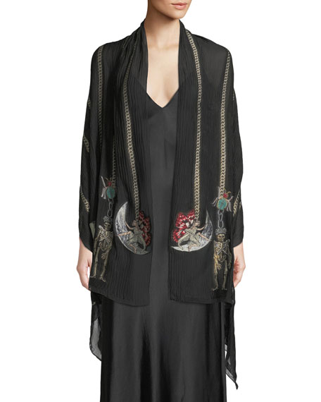 Alexander McQueen St. Renaissance Charm Silk-Blend Shawl