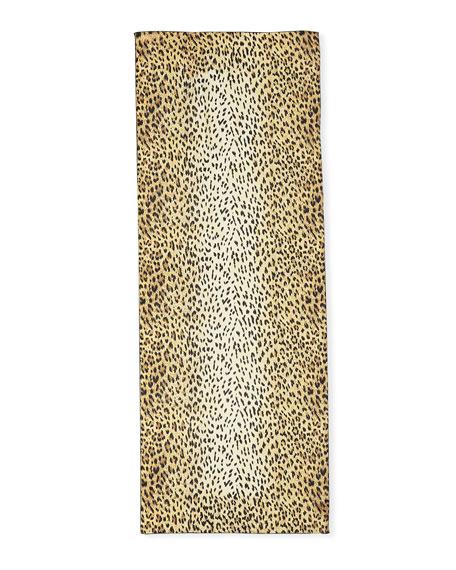 Wild Leopard Silk Stole