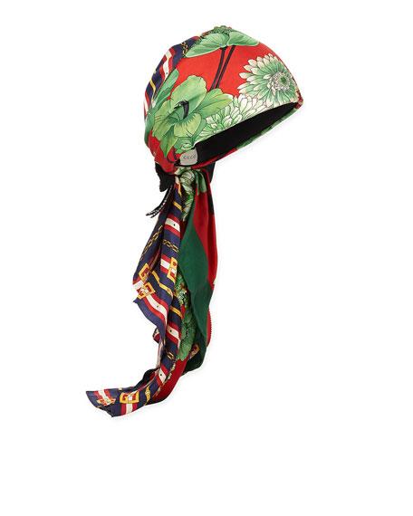 Gucci GG Belts & Spring Bouquet Printed Silk