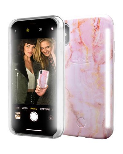 iPhone X Duo Photo-Lighting Case, Pink Quartz