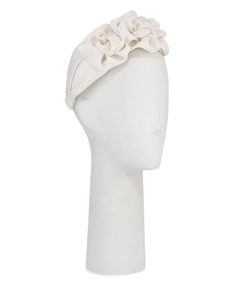 Jennifer Behr Silk Faille Triple Rosette Headband