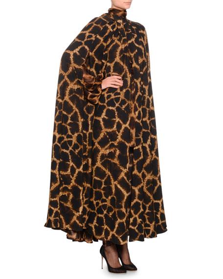 Giraffe-Print Cady Cape