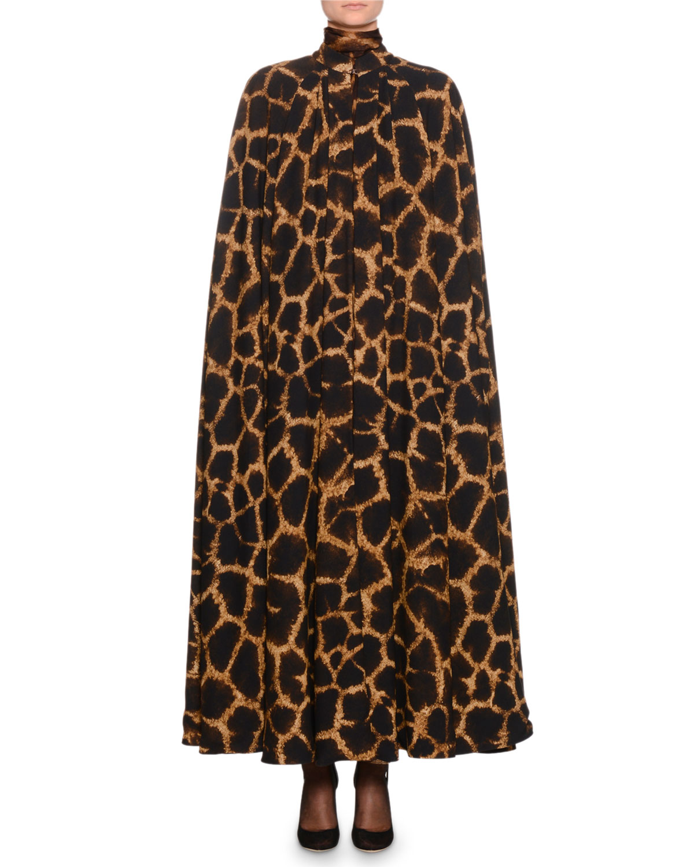 57254f01ee6 Dolce   Gabbana Giraffe-Print Cady Cape and Matching Items ...