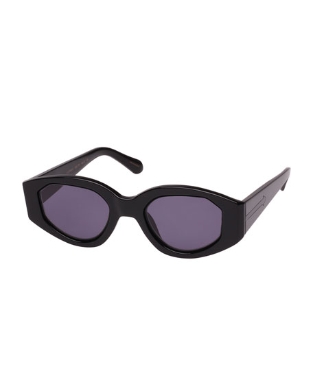 Karen Walker Castaway Oval Plastic & Metal Sunglasses