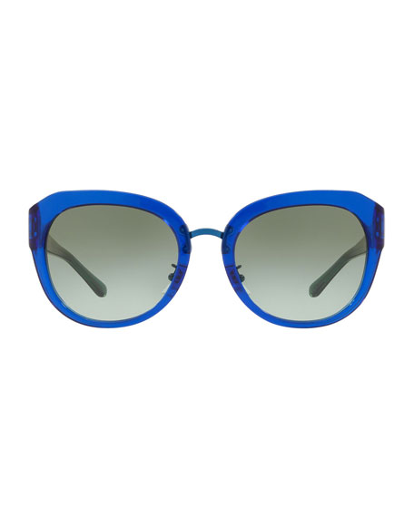 Tory Burch Acetate Butterfly Gradient Sunglasses
