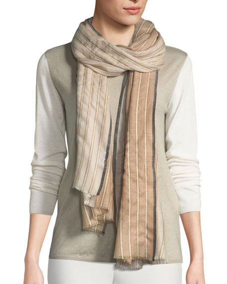 Image 1 of 2: Bindya Accessories Amour Striped Stole