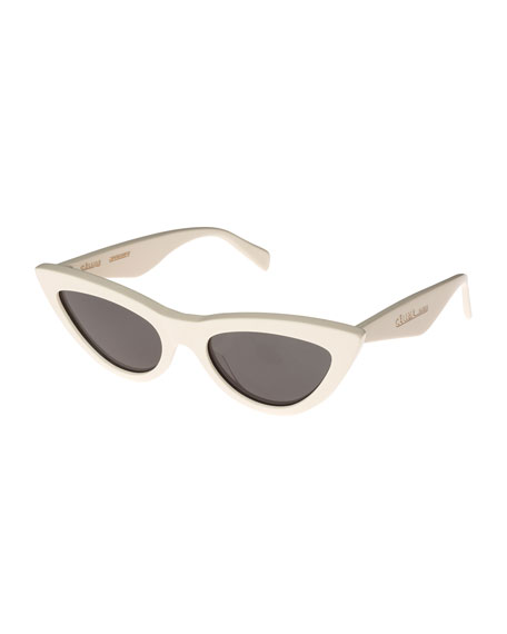 Celine Exaggerated International-Fit Cat-Eye Sunglasses