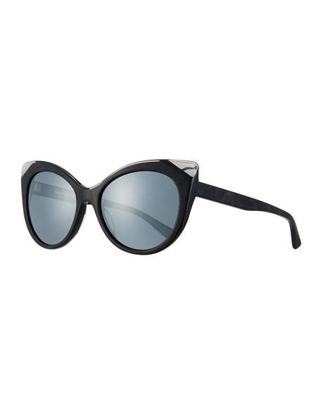 Alain Mikli Leala Mirrored Cat-Eye Sunglasses