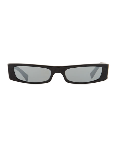 Alain Mikli Edwidge Narrow Rectangular Sunglasses - Black