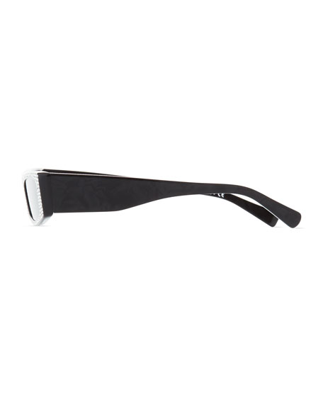 Alain Mikli Edwidge Narrow Jeweled Sunglasses