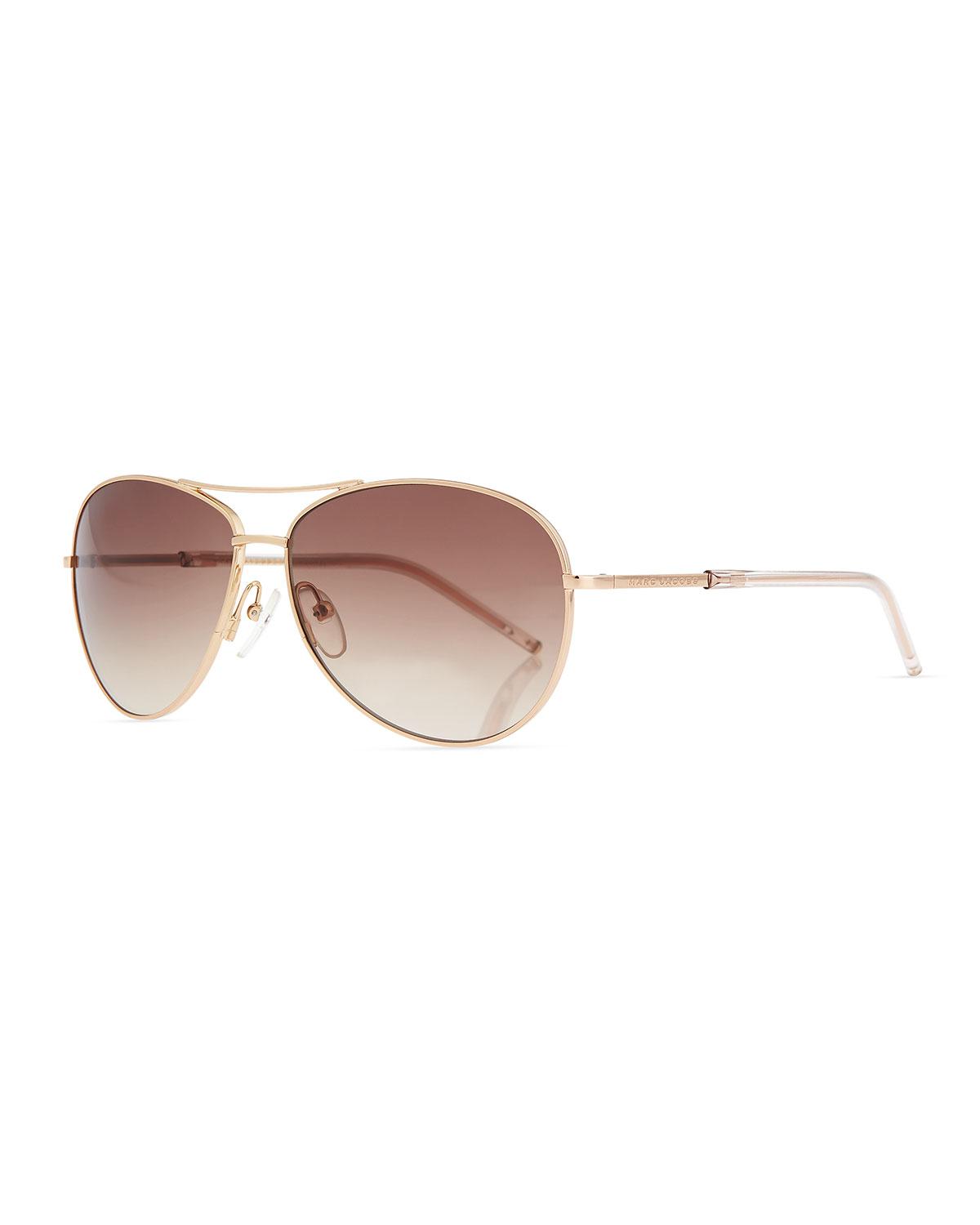 406d13b0101 Marc Jacobs Metal Curved-Brow Aviator Sunglasses