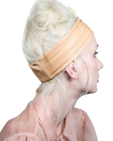 Epona Valley Narrow Leather Pleated Headband