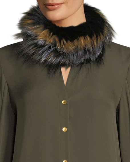 Surell TEXTILE KNIT FUR INFINITY SCARF