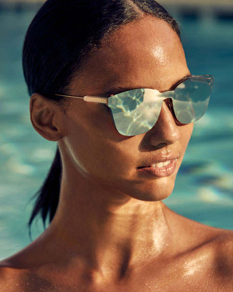 Dior ColorQuake2 Rectangle Shield Sunglasses
