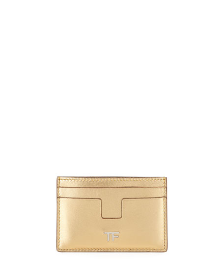 TOM FORD Metallic Leather Card Holder