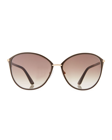 TOM FORD Penelope Metal Butterfly Sunglasses