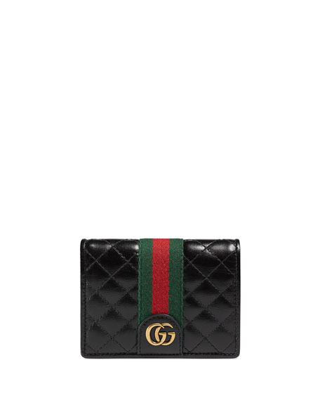 Gucci Trapuntata Leather Flap Card Case