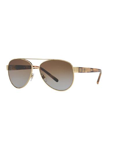Gradient Polarized Aviator Sunglasses