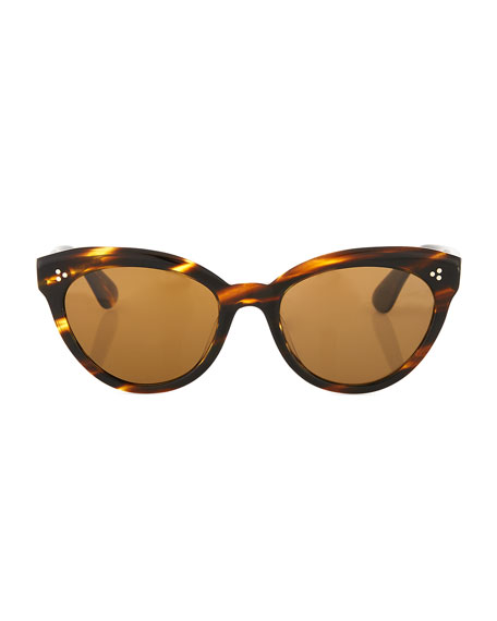 Image 2 of 3: Oliver Peoples Roella Cellulose Acetate Cat-Eye Sunglasses