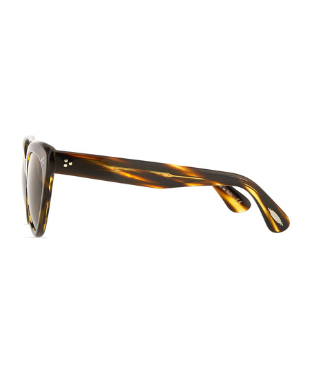 Image 3 of 3: Oliver Peoples Roella Cellulose Acetate Cat-Eye Sunglasses