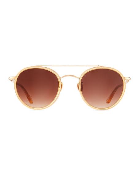 KREWE Poydras Round Acetate & Metal Sunglasses