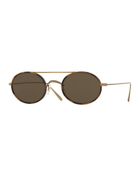 Oliver Peoples Shai Oval Metal Sunglasses