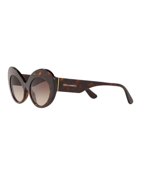 Dolce & Gabbana Oval Acetate Sunglasses