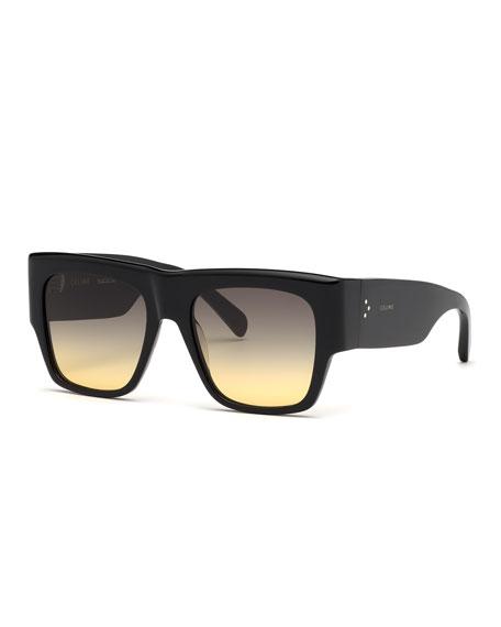 Celine Square Chunky Gradient Sunglasses