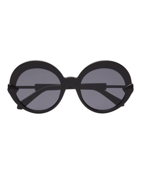 Karen Walker Romancer Round Acetate Sunglasses