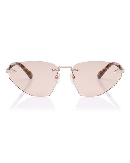 Karen Walker Heartache Rimless Cat-Eye Sunglasses
