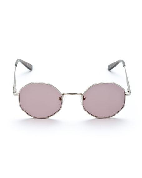 Sunday Somewhere Ems Round Titanium Sunglasses