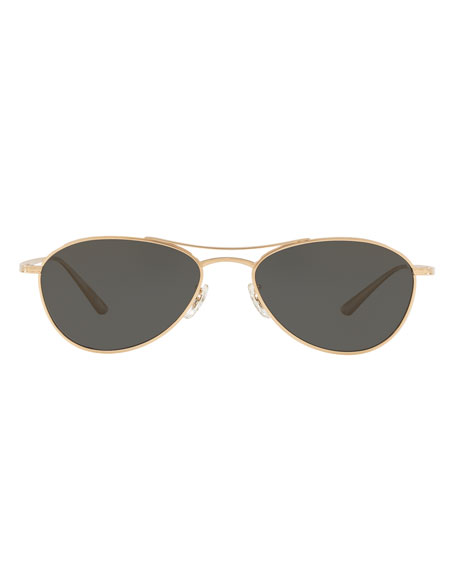 Oliver Peoples The Row Aero L.A. Aviator Sunglasses