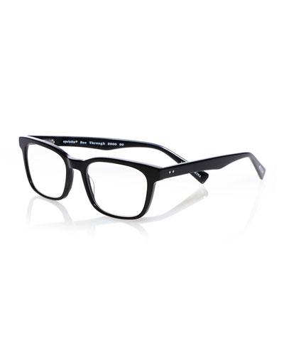 C Through Square Acetate Reading Glasses