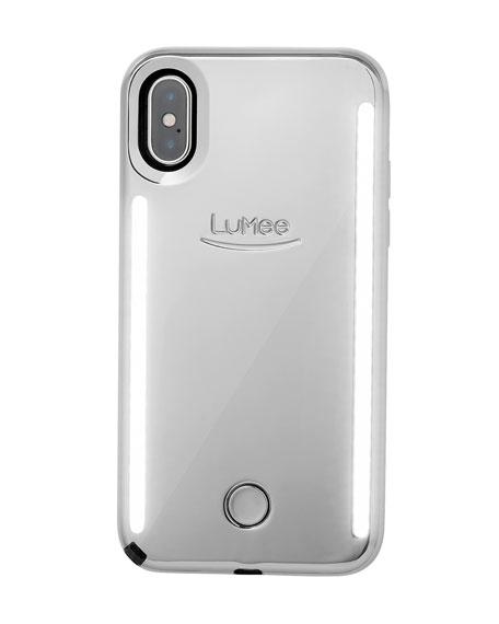 LuMee iPhone XS Max Duo Photo-Lighting Case, Silver Mirror